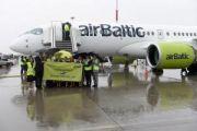 Аэропорт Пулково встретил первый самолет airBaltic CS300
