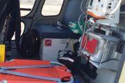 Вертолет санавиации доставил из Усть-Кута в Иркутск двух человек