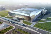 На территории нового аэропорта строят газопровод длиной семь километров