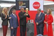 В Международном аэропорту Владивосток торжественно встретили Официальный Кубок Чемпионата мира по футболу FIFA