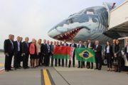 В Национальном аэропорту Минск состоялась презентация нового самолета Embraer E190-E2