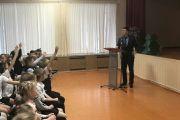 Сотрудники Нижневартовского центра ОВД встретились с учащимися школы
