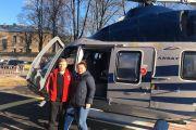 Беременную молодую женщину вертолетом санитарной авиации перевезли из города Великие Луки в областной центр