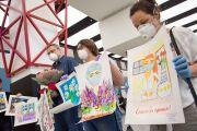 Аэропорт Шереметьево встречает медиков Москвы, выполнявших гуманитарную миссию в эпидемиологически неблагополучных регионах России