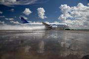 Подведены предварительные итоги испытаний самолета МС-21-300 по защите от попадания воды в двигатели