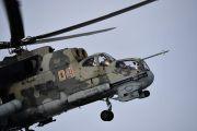 """Экипажи вертолетов Ми-24П на учении в Свердловской области отработали полеты """"вслепую"""" и нанесли ракетные удары по наземным целям"""